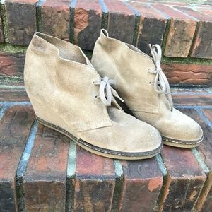 J.CREW MacAlister Wedge Ankle Boot  Lace-Up